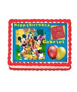 Mickey Mouse Clubhouse edible cake image frosting sheet - personalized f... - $7.80