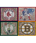 "Boston Sports Mosaic Print Art using Player Photos from four teams-8x10""... - $125.00"