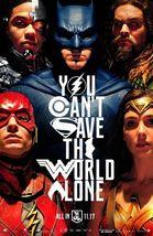 Justice League - original DS movie poster - 27x40 D/S Advance B Wonder W... - $32.65