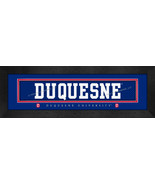 Duquesne University 8x24 Slogan Stitched Jersey Framed Print - $39.95
