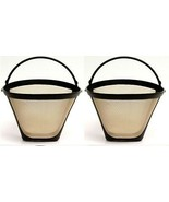 2 PACK Universal Gold Tone Permanent #4 Cone Coffee Fits Cuisinart Brewers - $11.87