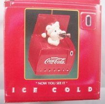 Now You See It - Coca Cola Ice Cold Cooler Cool Yule Christmas Ornament ... - $12.62