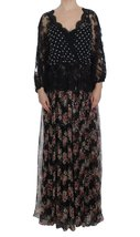 Floral Lace Silk Long Maxi Dress - $45.928,80 MXN