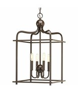 Progress Lighting P500036-020 Assembly Hall Four-Light Pendant, Antique ... - $214.72