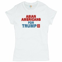Asian Americans for Trump 2020 T-Shrit Conservative Vote Red MAGA Women'... - $13.38+