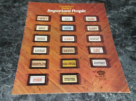 Important People Book IV by Angela Newton Canterbury Designs Cross Stitch - $3.99