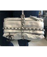 CHANEL Silver Quilted Leather Present Bag $4500 - $2,404.61