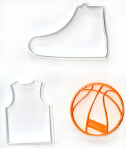 Basketball Team Uniform Sports Athletics Set Of 3 Cookie Cutters USA PR1080 - $5.99