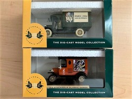 1996 COCA-COLA Olympic 1:64 DIE-CAST Delivery Trucks Set Of 2 (Lledo England) - $24.75