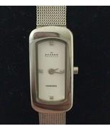 Skagen Women's Watch Diamond Stainless Steel Mesh Band MOP Face New Battery - $49.49