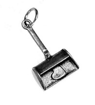 New Real Sterling silver .925 I love to clean dustpan Broom heart charm ... - $8.90
