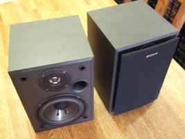 Classic Sony SS-MB105 Bookshelf / Home Theater Speaker System Pair - 8 O... - $78.81 CAD