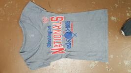 Washington Nationals Women's V-Neck T-Shirt, Gray, Small - $11.87