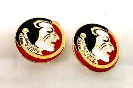 Florida State Seminoles Vintage 1980's Gold Tone Enamel Clip On Earrings - $16.79