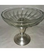 Gorham Sterling Puritan Weighted Candlestick Holder Glass Bowl 948 Antique - $49.99