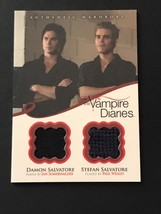 Vampire Diaries Season 2 DUAL Wardrobe Card DM2 Stefan And Damon Salvatore - $55.24