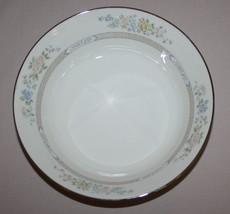 Gorham Cherrywood Round Vegetable Bowl Fine China Platinum Band - $55.39