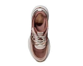 Michael Kors Women's Mickey Trainer Tech Canvas Dark Fawn Sneaker Shoes image 5
