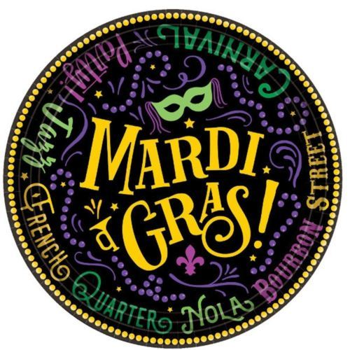 "Good Times Mardi Gras 60 Ct 7"" Dessert Plates Value Pack"