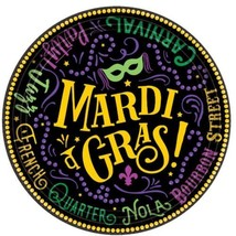 "Good Times Mardi Gras 60 Ct 7"" Dessert Plates Value Pack - $16.19"
