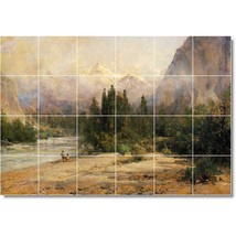 Thomas Hill Landscapes Painting Tile Murals BZ04274. Kitchen Backsplash Bathroom - $240.00