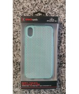 New Blackweb Soft Touch Silicone Phone Case iPhone XR 6.1 Teal Mint Pattern - $5.93