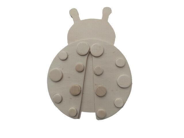 Wooden Dimensional Pine Ladybug, You Paint It! #9189-04