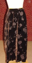 JONES NEW YORK brown velvet burnout long skirt 10 (T48-02L7G) - $19.78