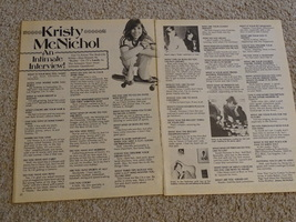 Kristy Mcnichol teen magazine pinup clipping an intimate interview 2 page