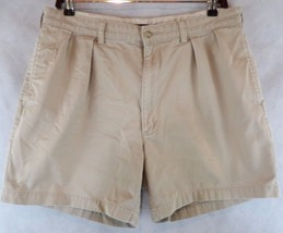 Polo Ralph Lauren Men's Tan Pleated Shorts~ Size 36- 100% Cotton  Adam Short - $19.75