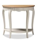 Console Table Storage Half Moon White Elegant Multipurpose Unique Home o... - $197.99