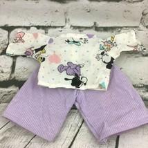 Vintage Doll Clothes 2Pc Outfit Disney Babies Top Purple Corduroy Bottoms - $11.88