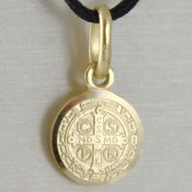 Pendant Yellow Gold Medal 750 18k, Protection, ST. BENEDICT, CROSS, SOLID image 9