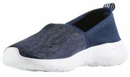 Adidas Women's Blue White CF Lite Racer Cloudfoam Slip On Sneaker Shoes AC8476 image 1