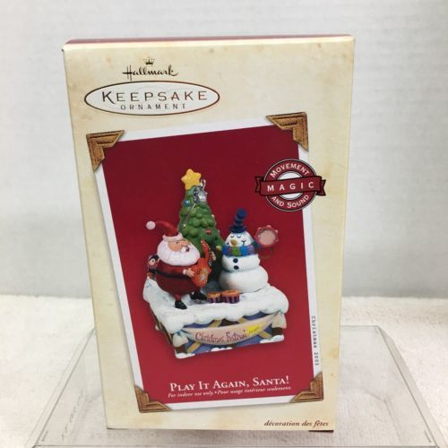 Primary image for 2003 Play It Again Santa Magic Hallmark Christmas Tree Ornament MIB Price Tag H3