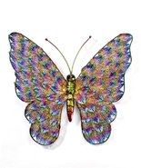 """19.75"""" Metal Butterfly Design Wall Plaque - with Rainbow Coloring - $79.19"""