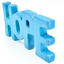 Vaneal Group Hand Carved Soapstone Sky Blue HOPE Free-Standing Word Sign Decor image 2