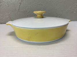 "Vintage Corning Ware Harvest yellow gold 9"" Skillet. B 81/2-B. 81/2 Skil... - $21.46"