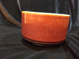 Vintage HALL POTTERY  BROWN GLAZE 4 1/4 INCH Chili/Souffle - $14.00