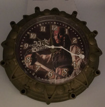 Pirates Of The Caribb EAN Captain Jack Sparrow Wall Clock Plastic Cover Scratched - $6.64