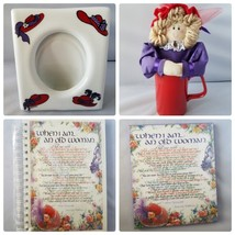 Red Hat Society Ladies' Gift Set Elizabeth Lucas Journal Plaque Photo Fr... - $22.83