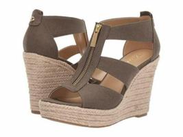 MICHAEL Michael Kors Damita Platform Wedge Sandals Olive Size 11 - $89.99