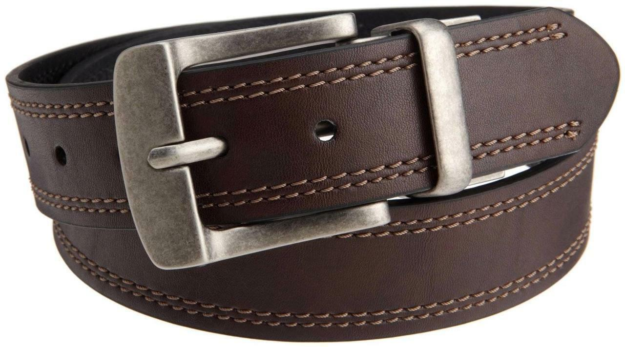 New Levi Men's Premium Stylish Classic Genuine Leather Belt Reversible 11LV02KB