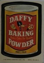 1974/ 6th S TOPPS WACKY sticker Daffy Baking Powder Bakes Cake For Quacks - $1.95
