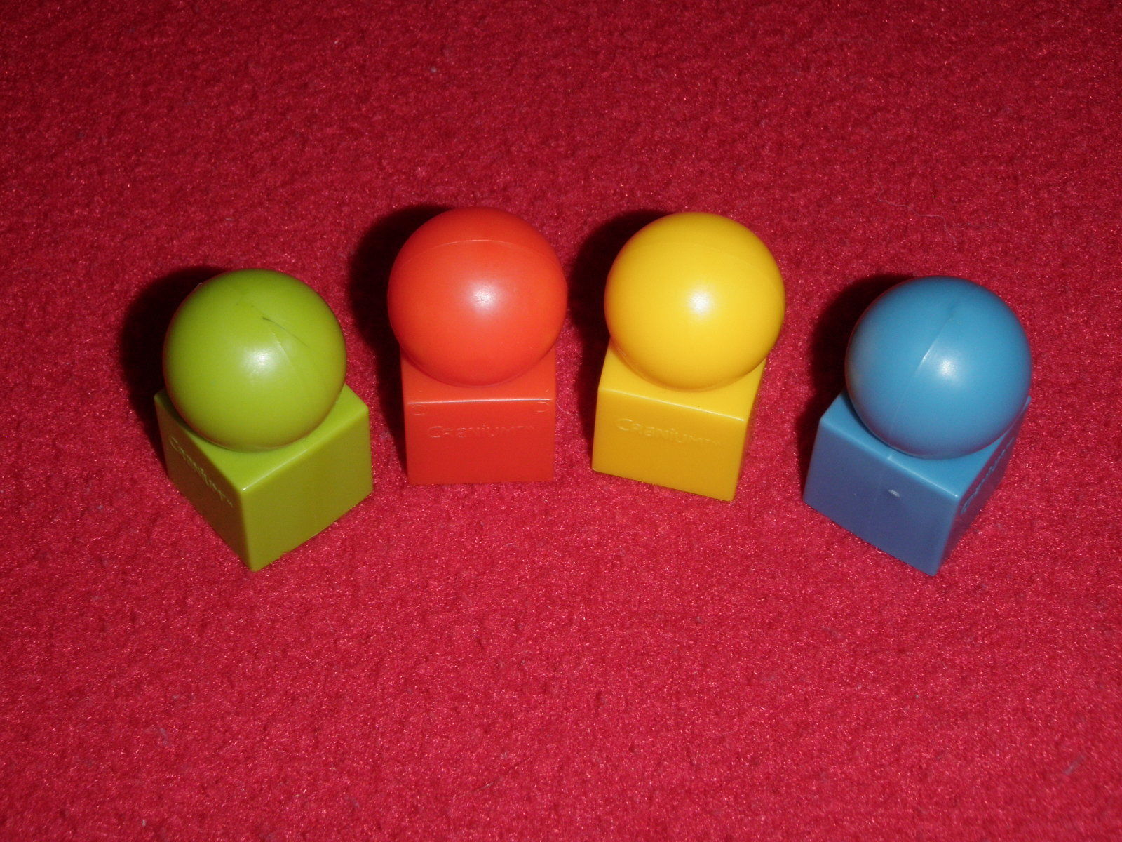 Primary image for 2008 Cranium Board Game Replacement 4 Movers Pieces Red Yellow Blue Green ONLY