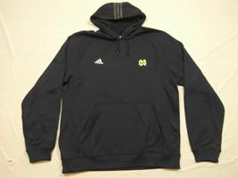 M145 New ADIDAS Climawarm Notre Dame Irish Blue Hooded Sweatshirt Hoodie... - $31.95