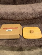 New In Box Longaberger Father's Day Basket #52604 LID ONLY Hardwood Maple - $12.50