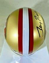 JERRY RICE / NFL H.O.F / AUTOGRAPHED SAN FRANCISCO 49ERS MINI HELMET / RICE HOLO image 5