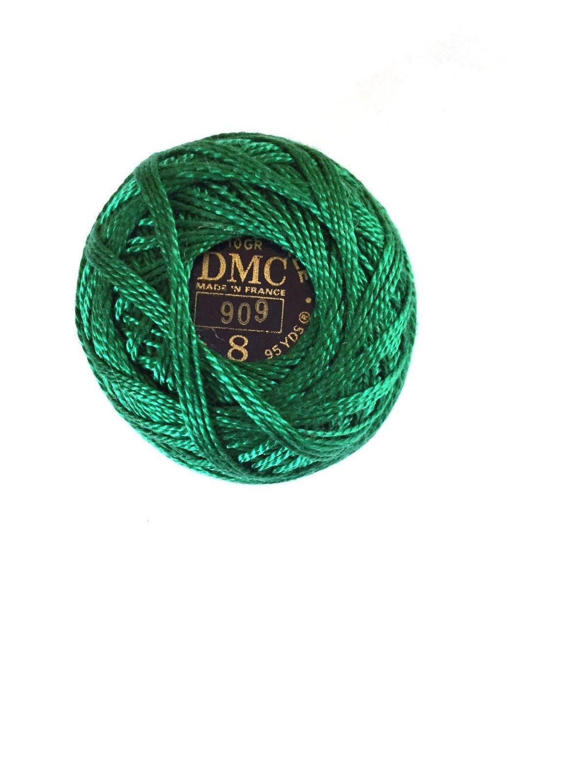 DMC Pearl Cotton Green #909 Coton Perle - $2.70