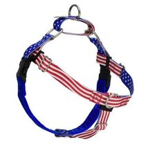 2Hounds Freedom No Pull Dog Harness Large Star Spangled  WITH Training Leash!   image 1